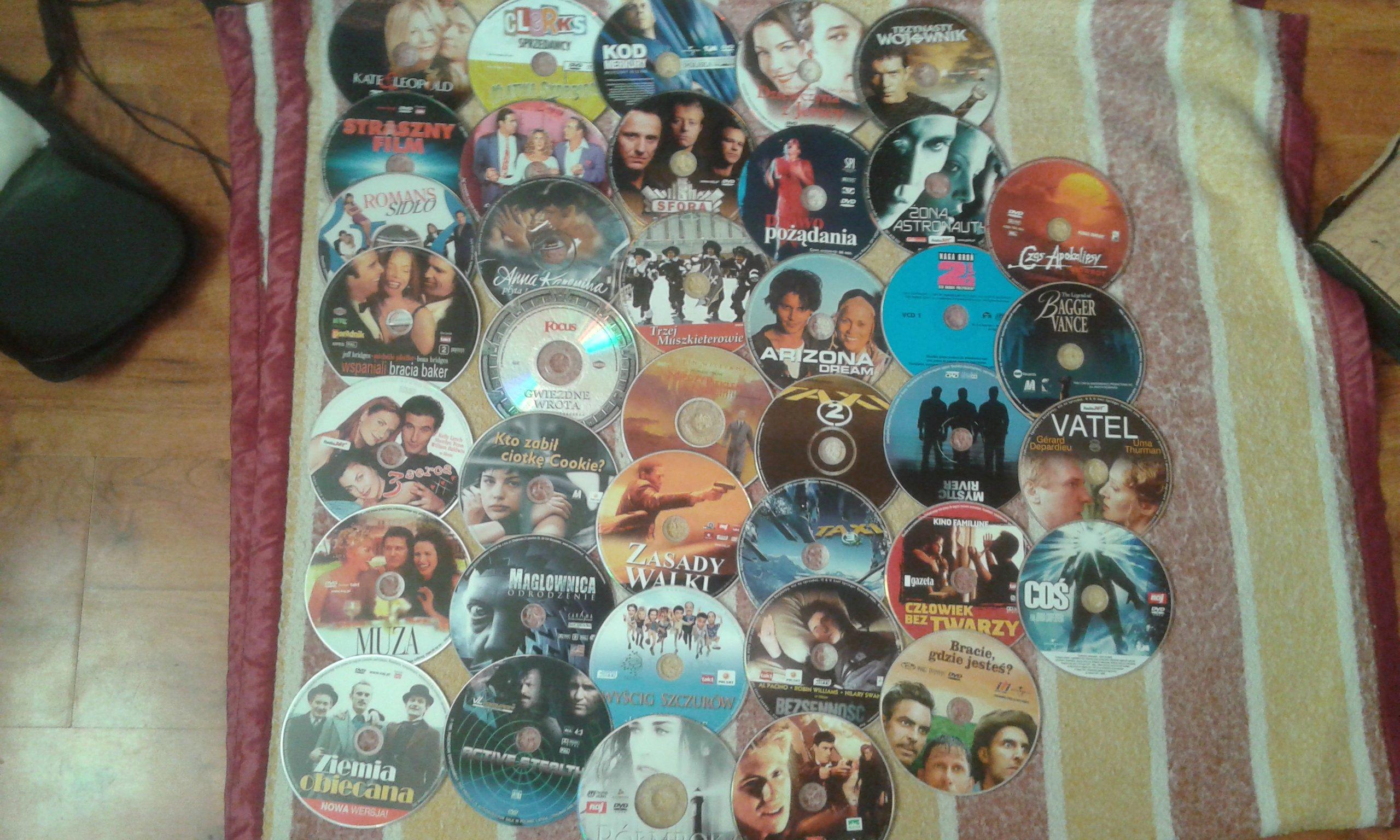 sprzedam filmy na DVD oryginalne rózne tytuły 60 szt