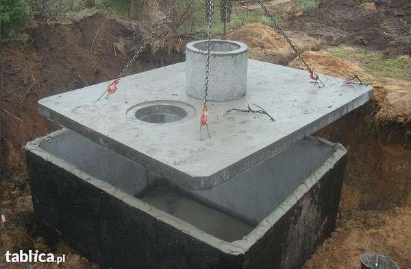 szamba betonowe z atestami i 2-letnią  gwarancją, transportem, montażem